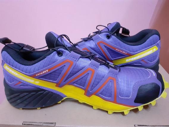 Zapatillas Salomon Speedcross 4 (violeta Mas Amarillo)37,5