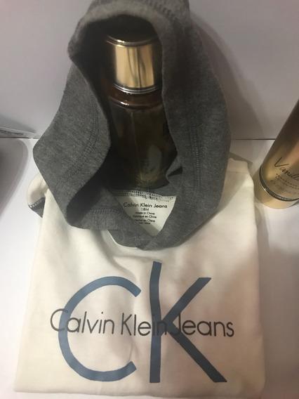 Camiseta Niño Marca Calvin Klein 18meses Blanca Usa Original