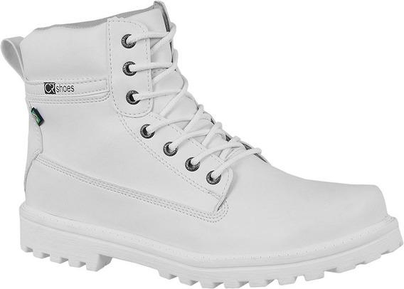 Bota Masculina Coturno Sapato Branco Cr Shoes 9002
