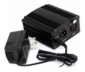 Phantom Power 48v Alimentação P/ Microfone Condensador