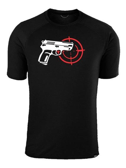 Remera Negra Estampada Pistola Bersa Thunder Policia