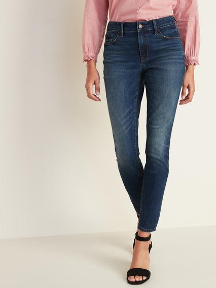Pantalón Dama Jeans Mezclilla Vaqueros Mid-rise Old Navy