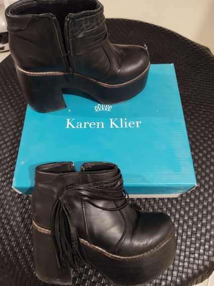 Botas Corta Con Flecos Karen Klier