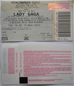 Lady Gaga Ingresso Show Born This Way Ba Porto Alegre Nov 12