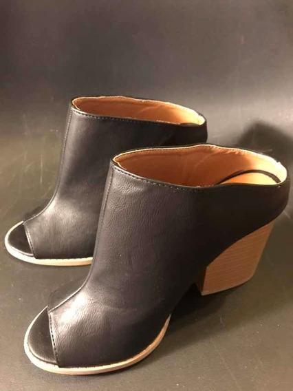 Zapato Nuevo Mujer Dama Moda Marca Qupid 3.5 Mex Botín Negro