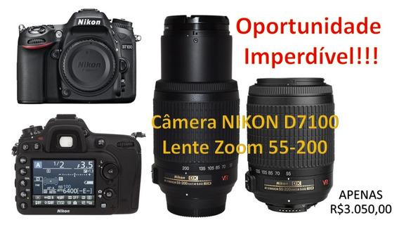 Nikon D7100 + Lente Zoom-nikkor 55-200mm F/4-5.6g If-ed