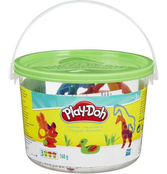Mini Balde De Massinha - Animais Playdoh - Hasbro 23414