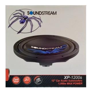 Subwoofer Soundstream Xp-1200s Plano Doble Bobina 12 Slim