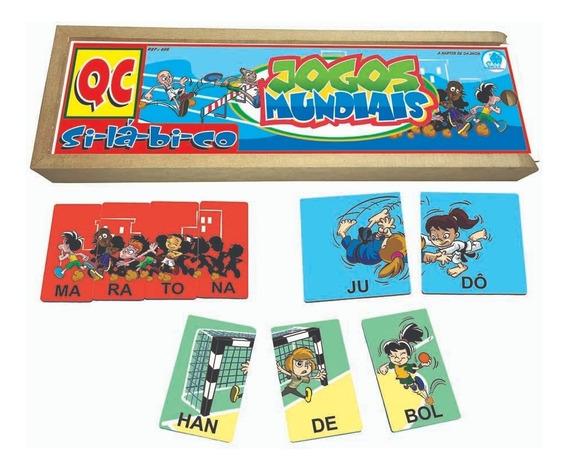 Quebra-cabeça Silábico Jogos Mundiais Alfabetização
