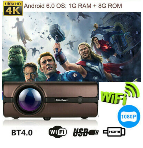 Video Beam 4k Con Android 4000 Lumens Wifi Tambien Epson