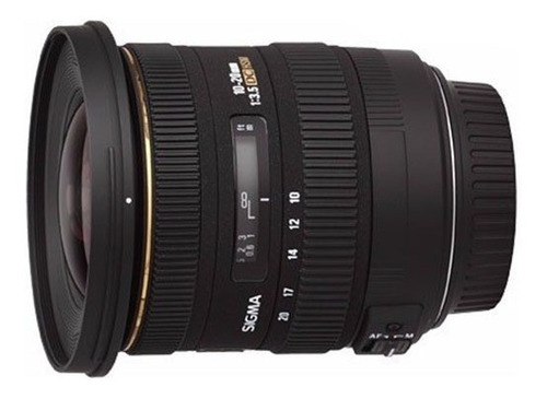 Lente Objetivo Sigma 10 20mm F 3.5canon Gran Angular Reflex