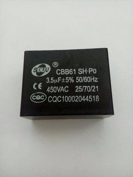 Capacitor Cbb61 3.5 Uf 450v Para Ar Condicionado Split 2pçs