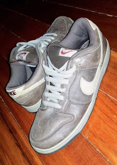 Tênis Nike Sb Low Dunk Dark Mocha Chino Marron Couro - N 43