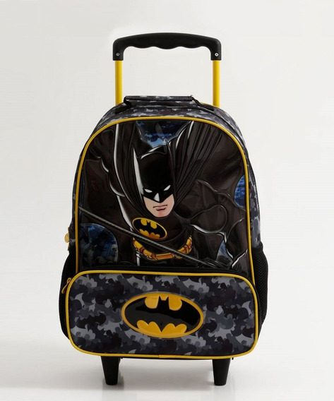 Mochila Infantil Escolar Rodinha Batman Xeryus
