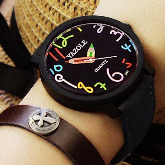 Relógio Feminino Yazole Lápis Original