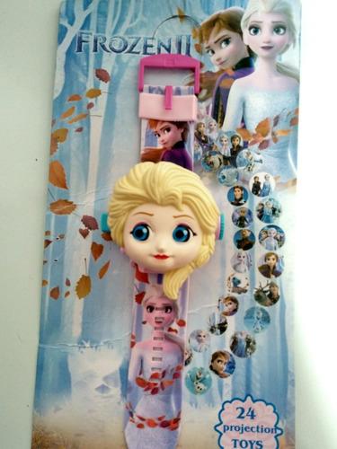 Relógio Digital Infantil Frozen Elsa Projeta  Imagens