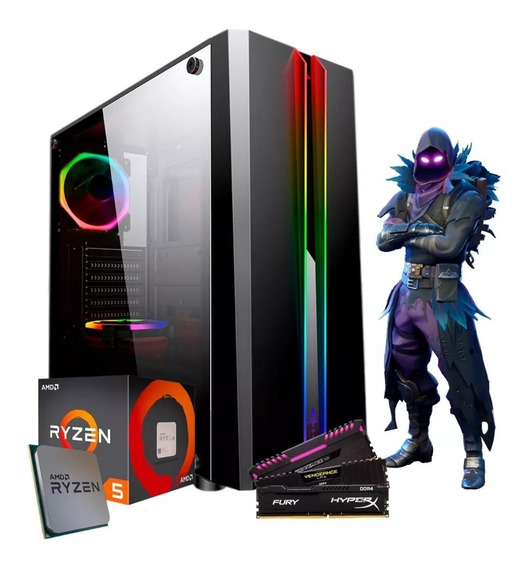 Pc Gamer Amd Ryzen 3 2200g 2x 4gb=8gb Ddr4 Hd 1tb Vega Graphics Fortnite