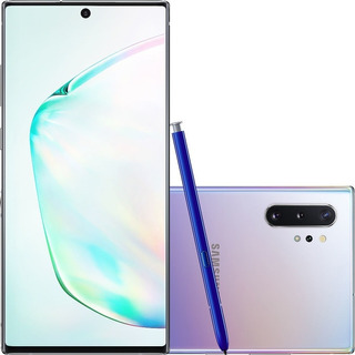 Samsung Galaxy Note 10+ Plus 256gb Prata Lacrado Garantia Nf
