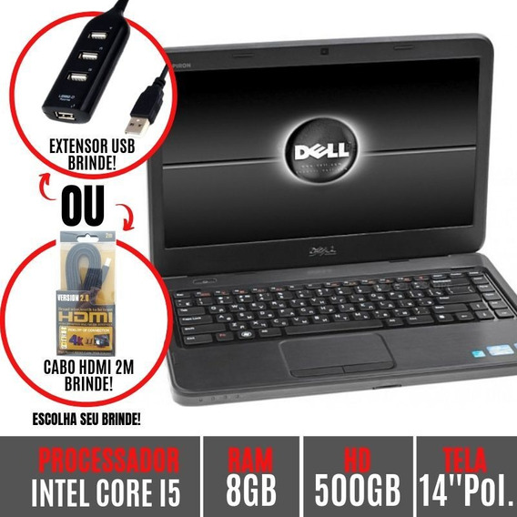 Notebook Dell N4050 Core I5 4gb 750gb