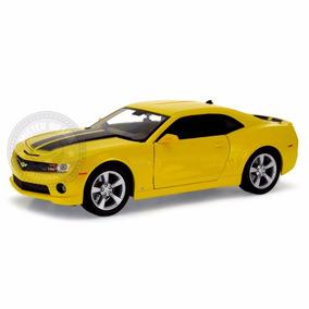 Miniatura Chevrolet Camaro Ss Rs 2010 Amarelo 1/18