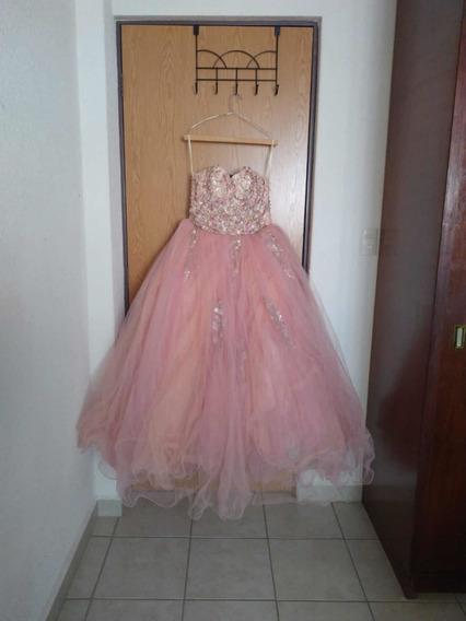 Vestido De Xv Años Rosa Pastel Con Pedrería
