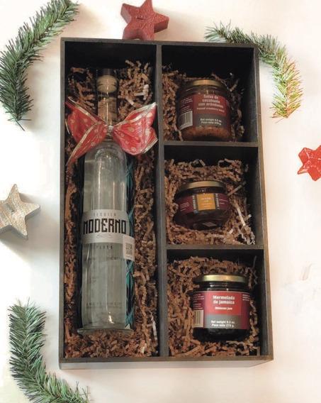 Caja De Madera Regalo Tequila Moderno