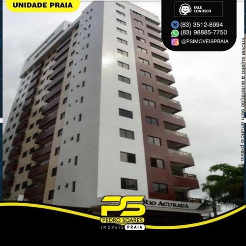 Apartamento Com 3 Dormitórios À Venda, 89 M² Por R$ 550.000 - Tambaú - João Pessoa/pb - Ap4652