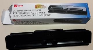 Perforadora Hojas Acco 2 Y 3 Agujeros Nueva