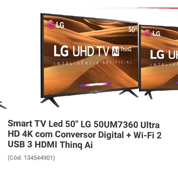 Smartv Lg 4k 50 Polegadas Nova Na Caixa Modelo Mu 7360