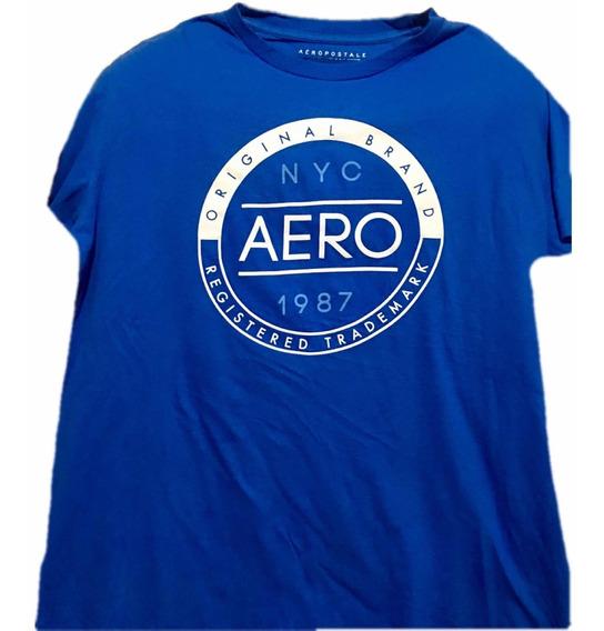Playera Aeropostale Azul Rey