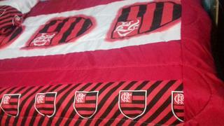 Promoção Jogo De Lençol Casal Padrão Do Flamengo 3 Peças