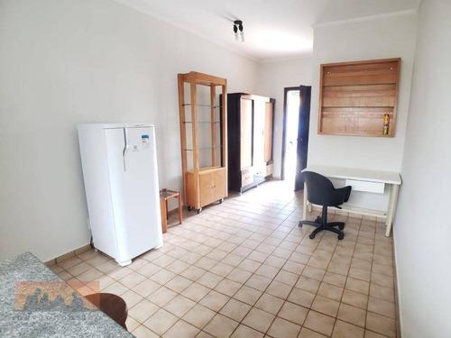 Kitnet Com 1 Dormitório Para Alugar, 22 M² Por R$ 1.050,00/mês - Jardim Santa Genebra Ii (barão Geraldo) - Campinas/sp - Kn1011