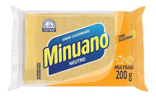 Sabão Em Barra Glicerinado Neutro Minuano200g - 1 Unidade