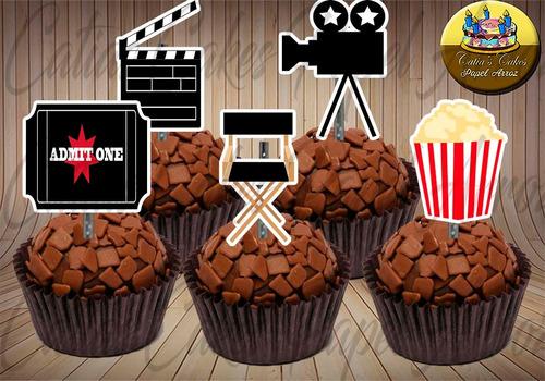50 Topper Tags Para Doces Cinema Filme Hollywood