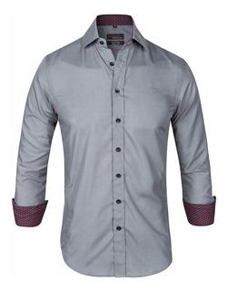 Camisa Entallada Slim Fit Elast Z409 - Quality Import Usa