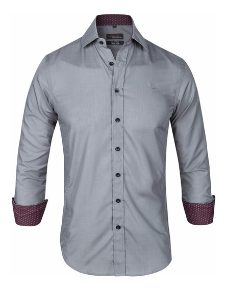 Camisa Entallada Slim Fit Elast Z409 - Quality Import Usa
