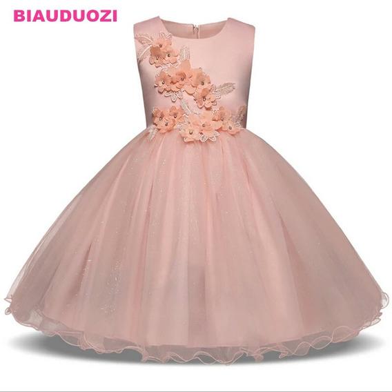 Vestido Para Festa Cor Salmão Vestidos Para Meninas Rosa