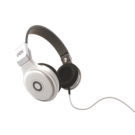 Fone De Ouvido Headphone Groove Hp102 Microfone Branco Oex