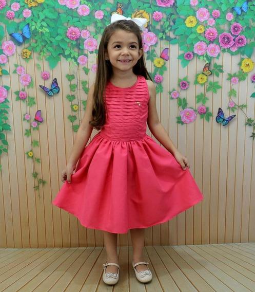 Vestido Infanto Juvenil Princesa Pink
