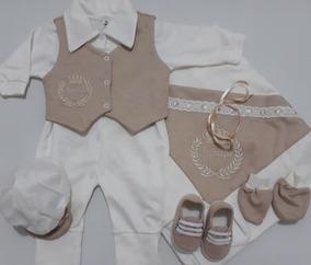 Saída Maternidade 6 Peças 100% Algodão - Menino