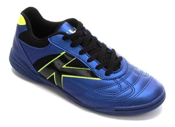 Tenis Futsal Kelme Skill Azul/preto - Original