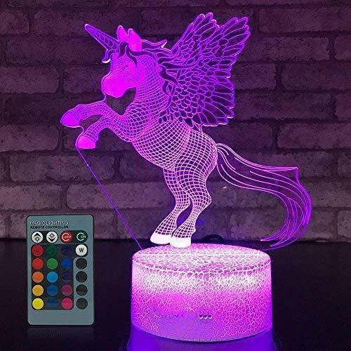 Lámpara De Dinosaurio Para Niños 16 Colores Y Mando A Distan