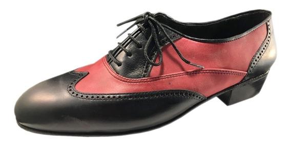 Zapatos Baile Hombre Tango Salsa Bachata Rock Flex Taco Alt