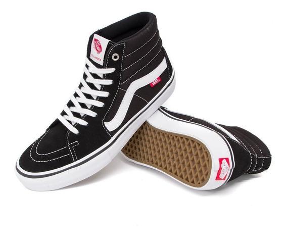 Zapatillas Vans Sk8 Hi Black Originales. Envíos Sin Cargo.