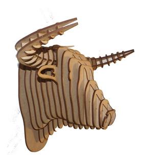 Cabeza De Toro Decorativa En Mdf