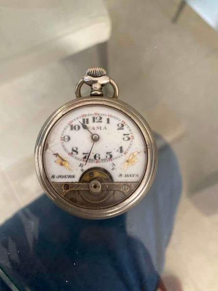 Reloj Hebdomas 8 Días De Bolsillo