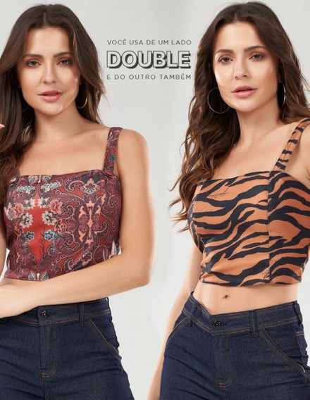 Cropped Double Trendy Rusty Gatabakana 17714