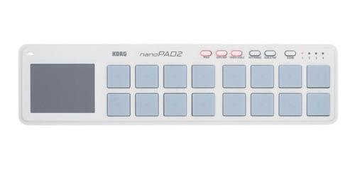 Imagen 1 de 10 de Controlador Midi Usb Con Triggers Y Touchpad Korg Nanopad2