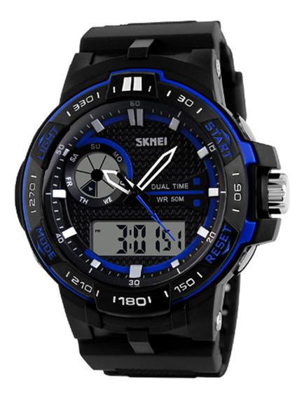 Relógio Masculino Skmei Anadigi 1070 Azul