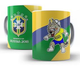 Caneca Brasil Copa Do Mundo Russia 2018 Seleção Mod 02
